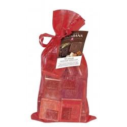 Assortiment de carrés de chocolat Monbana