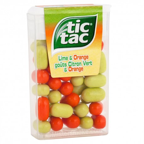 Tic Tac Orange et Citron Vert